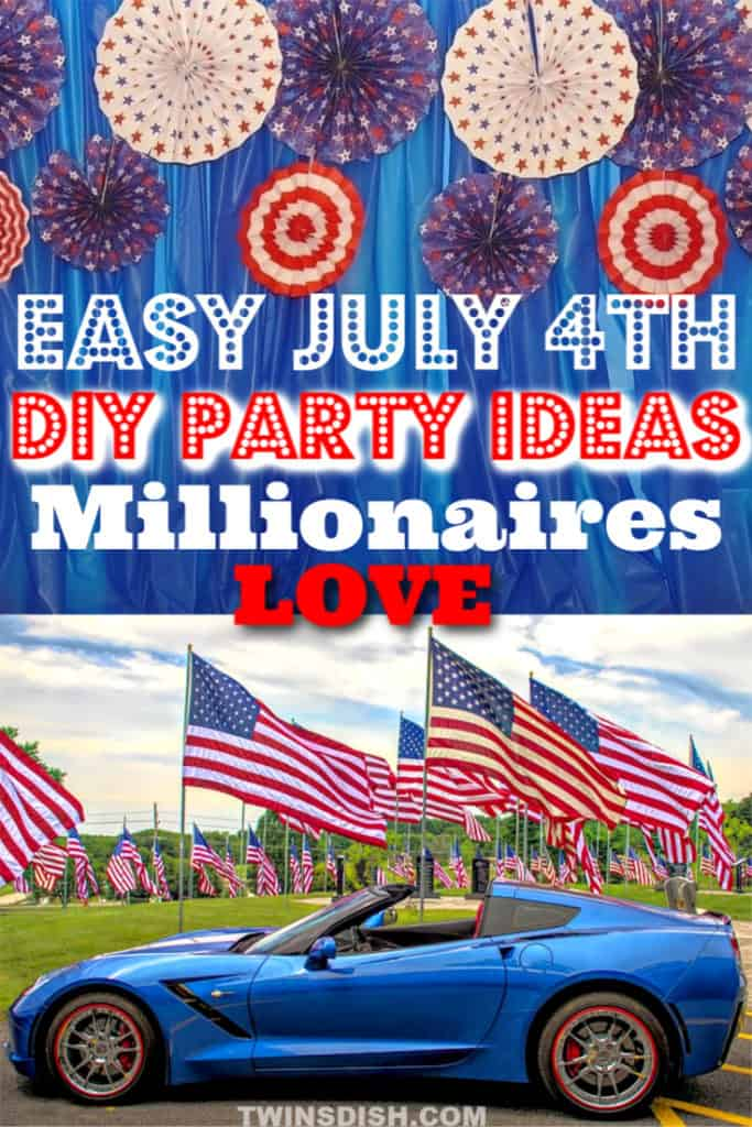 The top 12 easy DIY 4th of July party ideas, for food and decorations. #4thofJulyParty #DIY