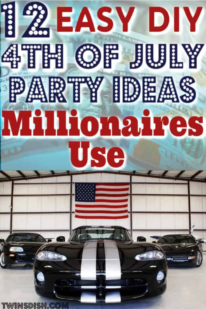 Super easy DIY Fourth of July party ideas, for food and decorations. #4thofJulyParty #DIY