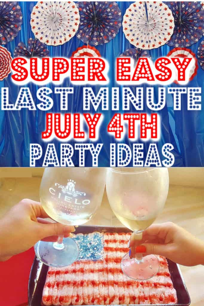 Super easy last minute 4th of July party ideas that will save any party. #4thofJuly #lastminute