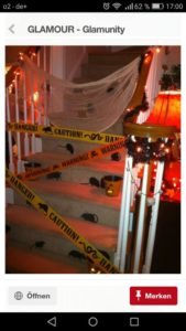 The Best Halloween Party Decorations That Will Keep Guests Out Using Caution Tape and Construction Paper Rodent Shadows With Cobwebs. Great dollar store idea.
