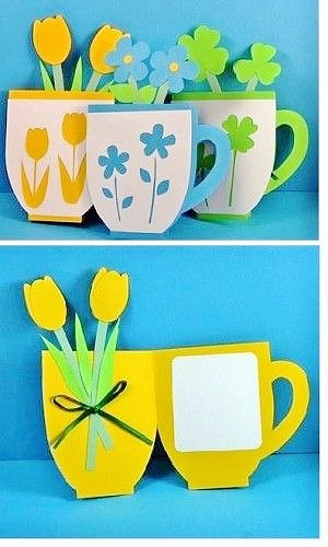 Easy DIY Flower Plant Card. Great DIY Mother's Day craft gift kids can make for Mom or GrandMa