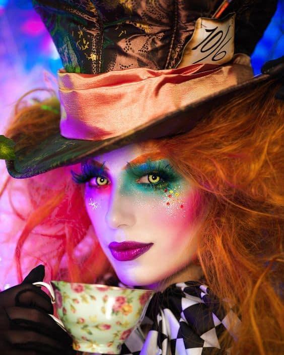 Best Halloween Mad Hatter Make Up Costume