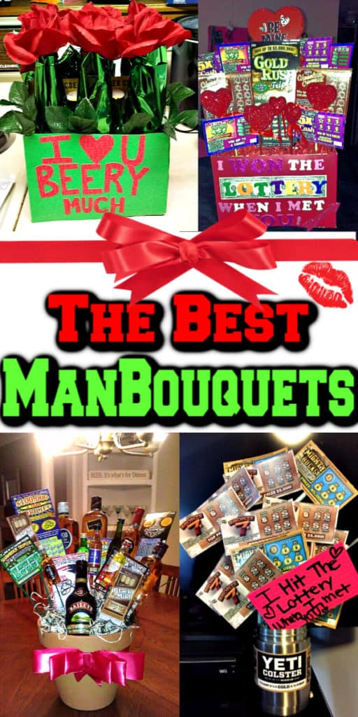 Best Man Bouquets - Ultimate DIY Valentine's Day Guide / DIY Boyfriend Gifts / Gift Ideas / Crafts / Man Bouquets / Candy Ideas / Puns / Recipes / man cakes
