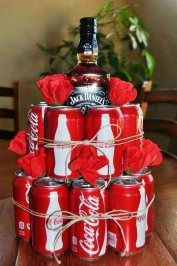 Easy DIY Jack and Coke Man Cake Fathers day Gift Idea