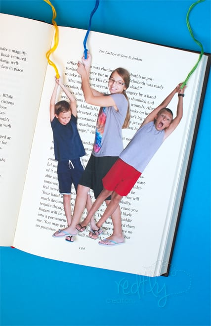 Easy DIY Kids Funny Photo bookmark craft Kids can help make for Mothers Day. A great gift idea. for Moms, Grandmas, and Grauntie.