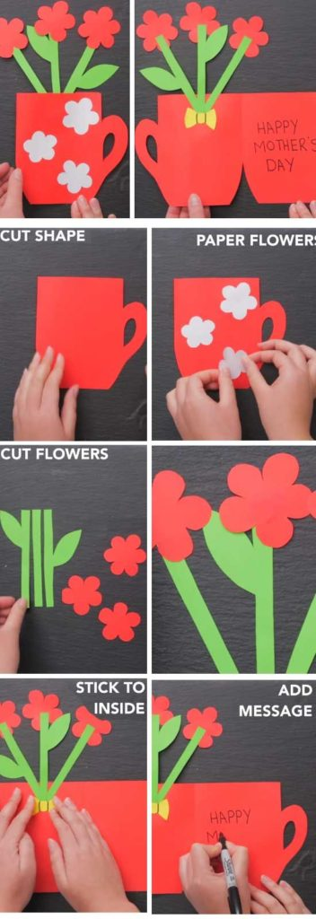 Easy DIY Flower Plant Card. Great DIY Mother's Day craft gift kids can make. on a budget