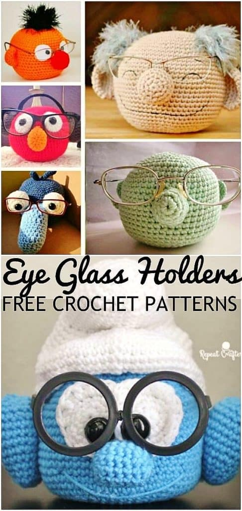 Easy DIY Crochet Eye Glass Holders gift ideas for Mom or family. DIY Mother's Day craft gift idea for Mom or GrandMa on a budget. Also a great Christmas gift.