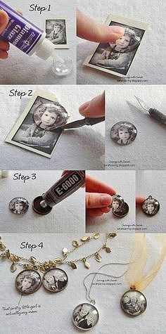 Easy DIY Photo pendant necklace. Great DIY Mother's Day gift kids can make. on a budget
