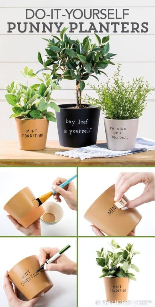 Easy DIY Plant Pun Flower Pot Idea Kids can make for Mothers Day. A great last minute gift idea you an do for Mom's, GrandMother, or Grauntie. On a budget idea.
