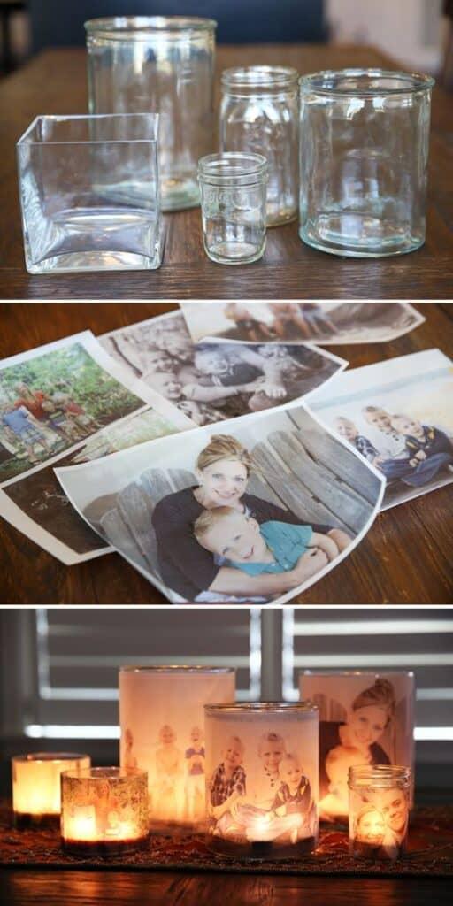DIY Photo Votive