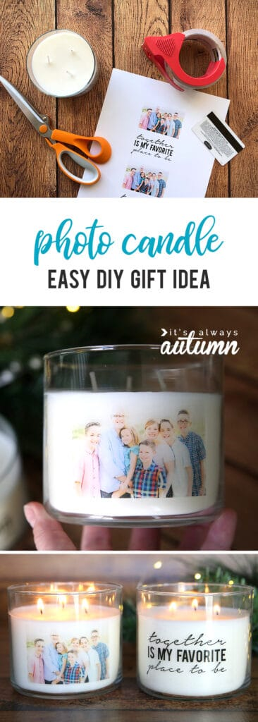 Easy Photo jar candle DIY Mother's Day gift idea