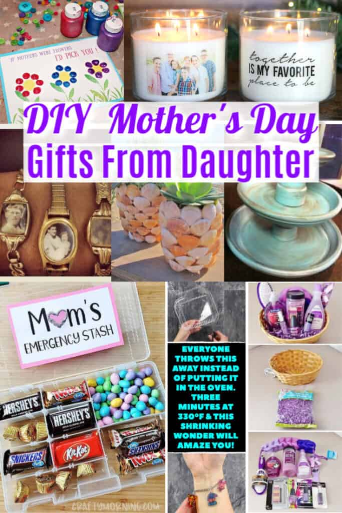 Easy Mother's Day DIY gifts from daughter