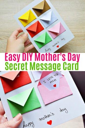 Easy DIY Mother's Day Secret Messages Card