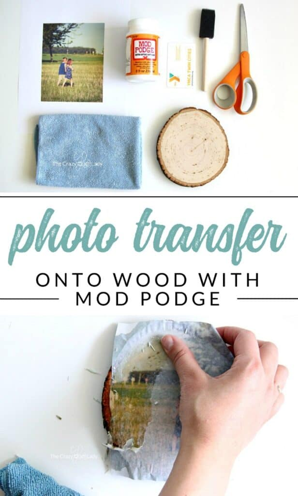 Easy Mother's Day rustic wood DIY gift craft