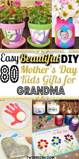 Best Easy DIY Mothers Day Gifts for Grandma from kids. For first mothers day, toddlers, and from daughter.