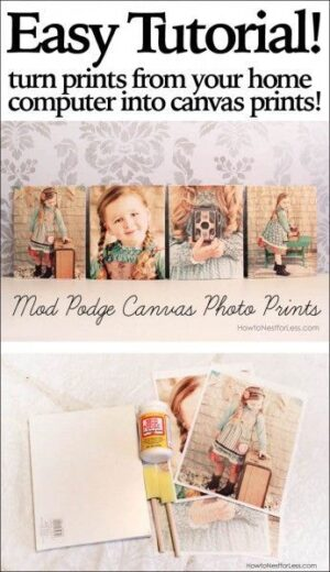 Easy DIY Mother's Day gift photo canvas. Perfect heartfelt gift for mom or for grandma from the kids.