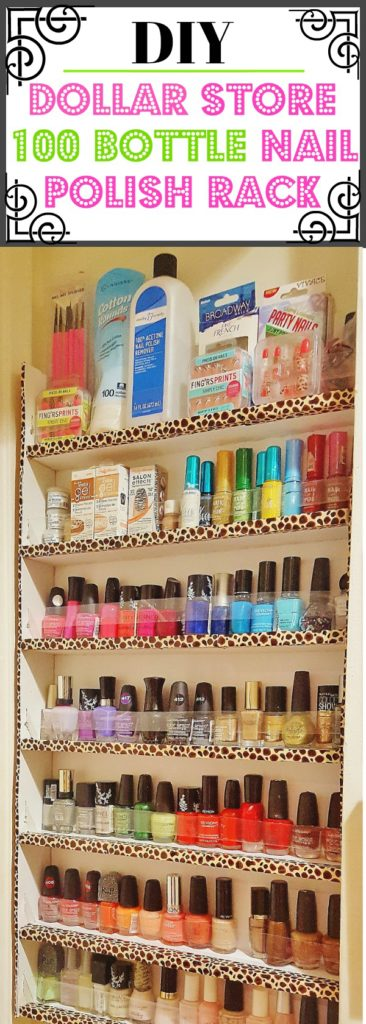 DIY Dollar Store Nail Polish Rack
