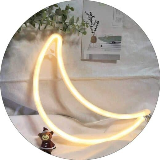 Moon Neon sign for Bedroom or dorm wall decor