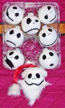 Easy DIY Nightmare Before Christmas Decorations That Look Store Bought. Use paint or a sharpie to make.