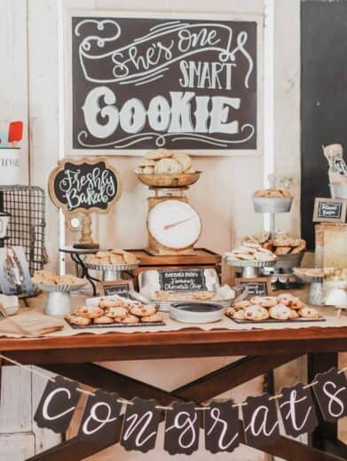One Smart Cookie Bar for Graduation Party
