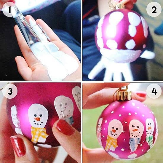 Easy DIY Christmas Ornament That Looks Store Bought. Just Use and old ornament acrylic paint and markers.