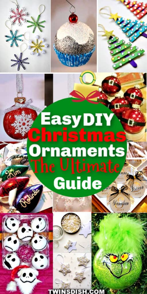 The best easy DIY Christmas ornaments to make for crafts, gifts, and Christmas Tree ideas. There are cricut craft ideas too! I'm making these for teachers, friends, and neighbors. The kids love making them too and they're beautiful.
