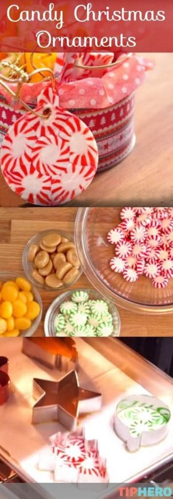 Easy DIY Candy Christmas Ornament that looks professional and makes a great unique gift.