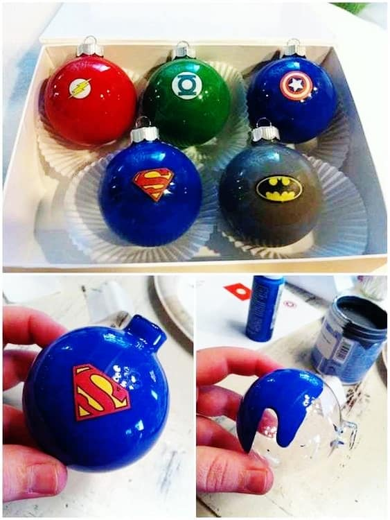 Easy DIY Comic Book Ornaments that look store bought.