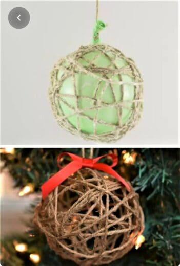 DIY Twine Ball Tree Ornament