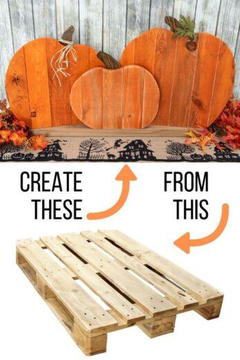 Pallet Wood Pumpkin Fall Decor Porch Craft
