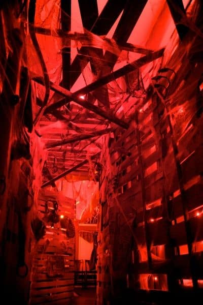 Pallet Wood Walls in haunted house