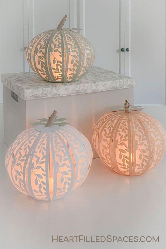 Paper Pumpkin Lanterns Fall Decor Craft