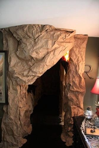 Faux Cave Walls Made out of paper