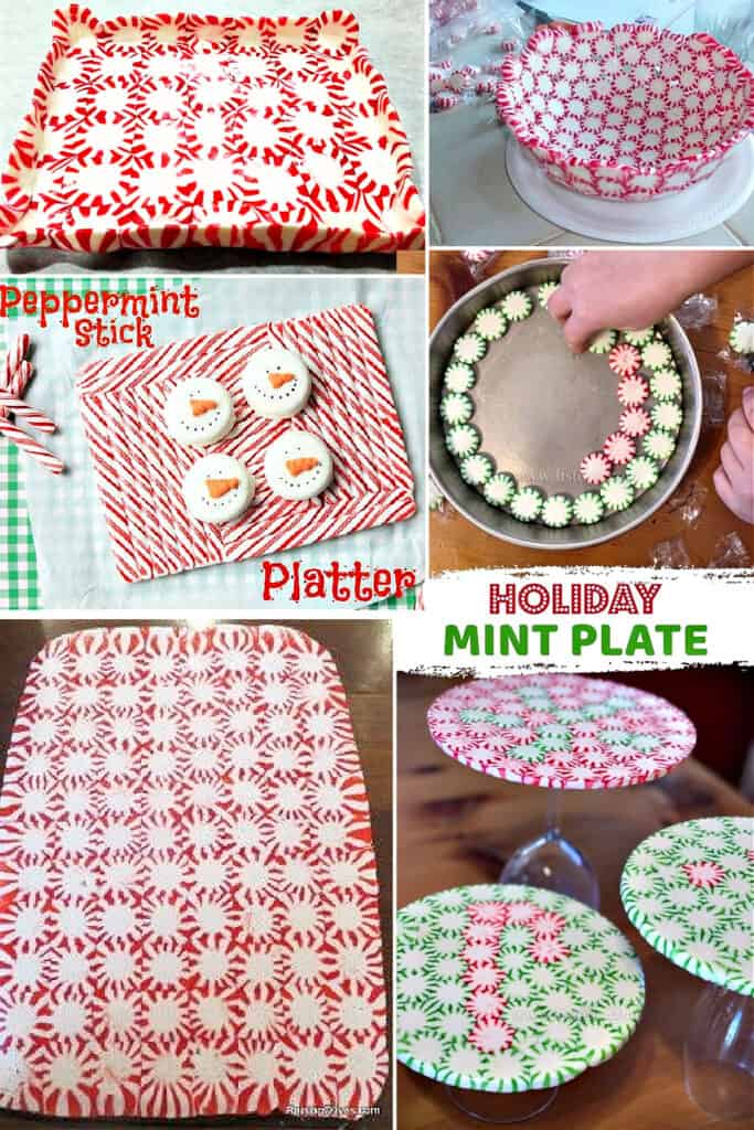 Platters made out of Peppermint Candies