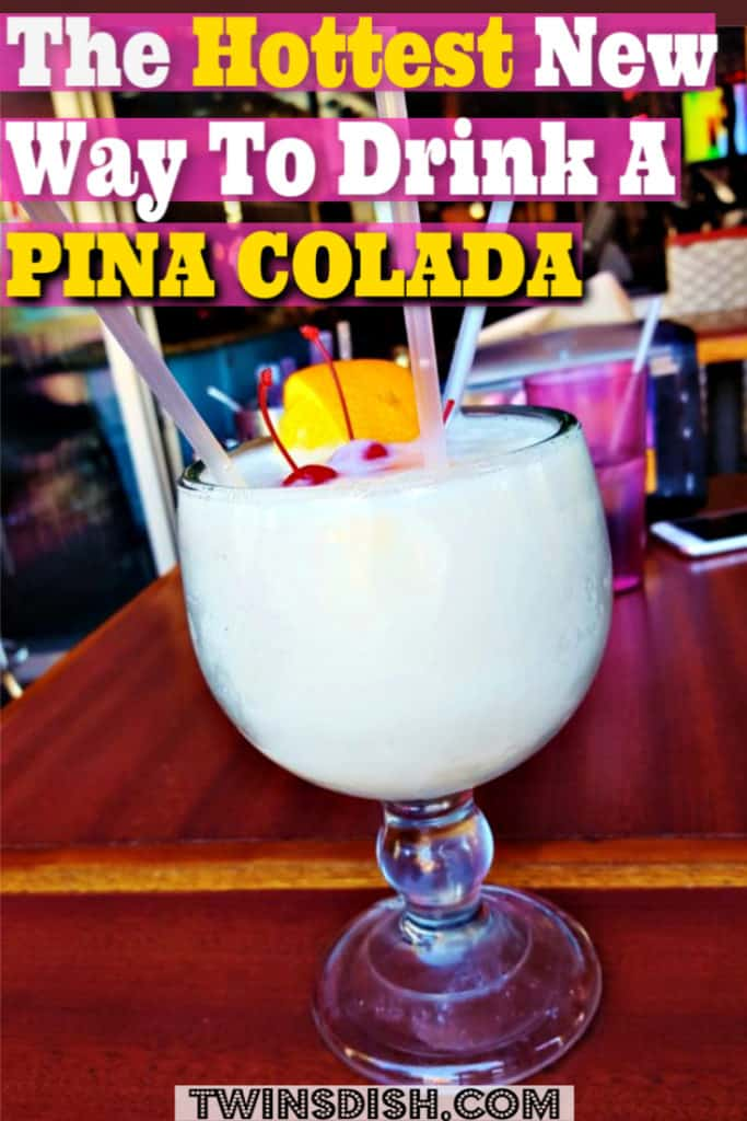 Trendy new Pina Colada. The best Pina Colada summer drink recipe for a summer party.