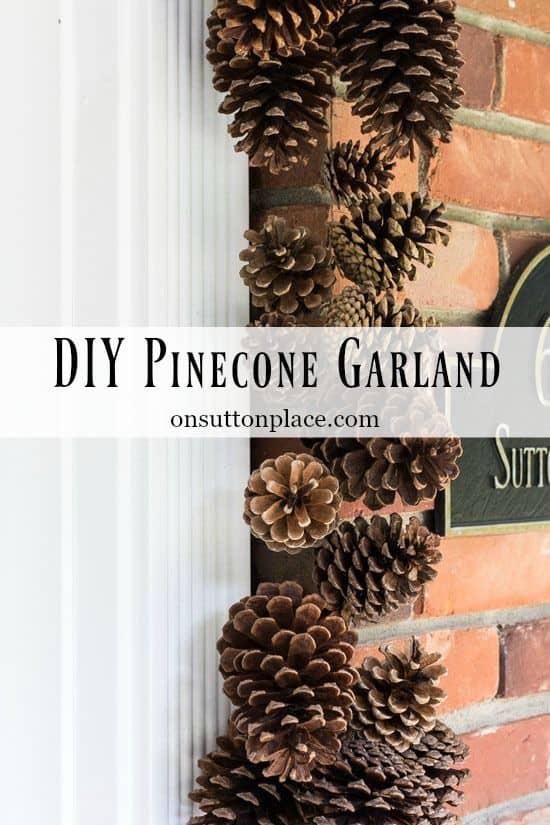 Easy DIY Christmas Decor Ideas/ Pinecone Garland Craft