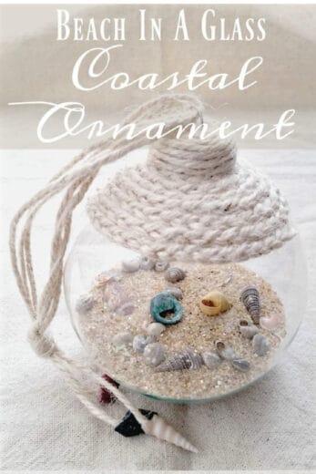 Easy DIY Beach in a Glass Christmas Ornament