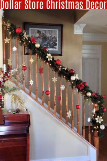 Easy DIY Dollar Store Christmas Decor for livingroom
