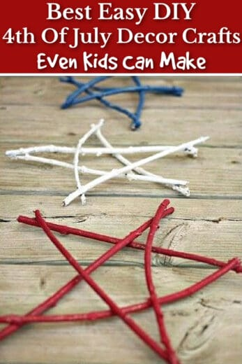 Easy DIY 4th of July Twig Branch Star Craft for Kids