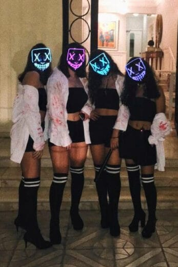 The Purge Easy Last Minute DIY Halloween Costume for teens, college students and groups