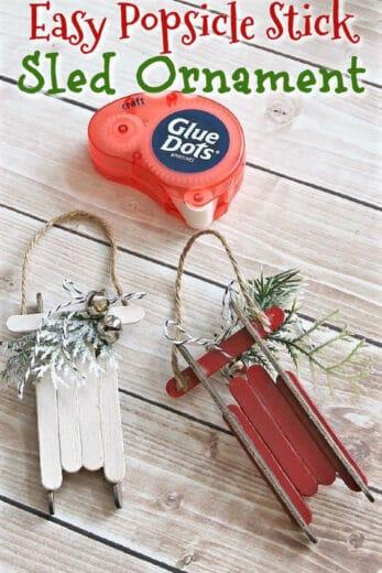Easy DIY Popsicle Sled Ornament