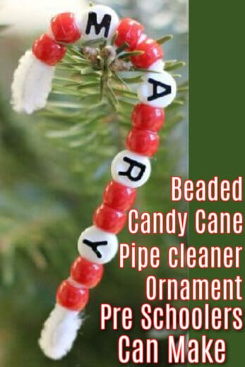 Easy DIY Candy Cane Pipe Cleaner Ornaments Pre Schoolers Can Make