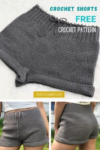Easy DIY Crochet Summer Shorts Free Pattern