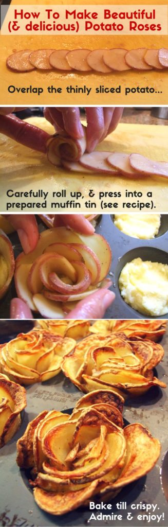 Easy DIY Potato Roses perfect for a romantic Valentines Day dinner. DIY boyfriend gifts
