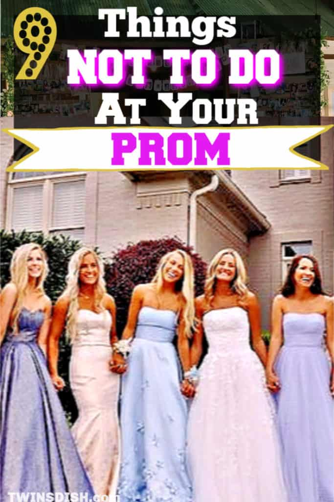 Prom tips and mistakes to avoid. Dresses, make up, shoes, pictures, and dates. A Checklist of what will ruin Prom.