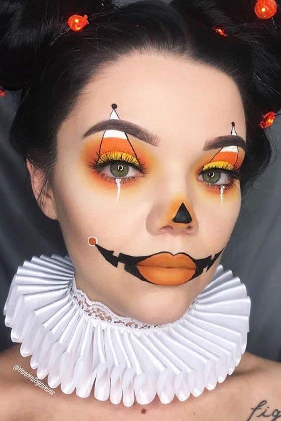 Pumpkin Clown Make Up