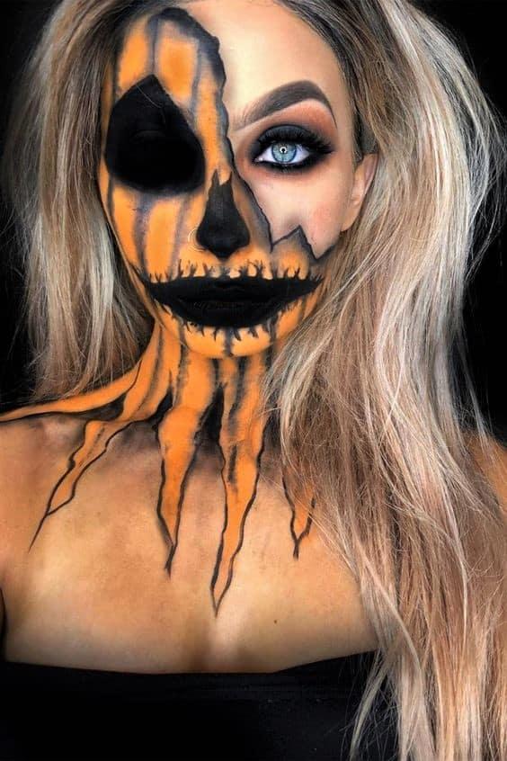 Scary Pretty Pumpkin Make Up