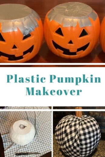 Plastic Pumpkin Fall Decor Craft