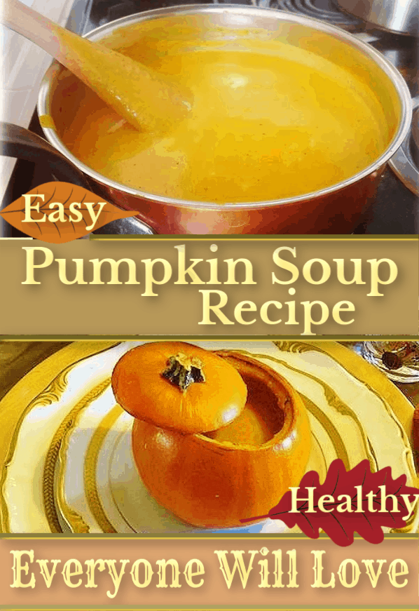 Impress your guests with this 20 minute Pumpkin Soup Recipe that's easy, simple, delicious, and healthy / Keto / Paleo / Low Carb / Thanksgiving / Easy