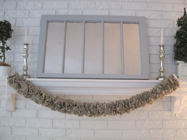 Easy DIY Linen Christmas Garland
